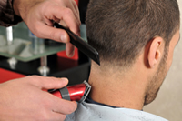 Haircut and Style for Men at Off Center Salon West Hartford CT