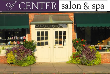 Off Center Salon entry on South Main Street, West Hartford CT