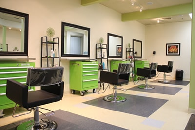 Salon chair rental opportunities at Off Center Salon on South Main Street, West Hartford CT