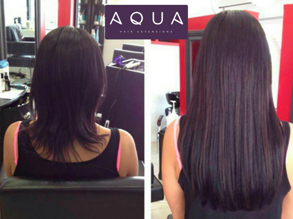 Off Center Salon offers hair extensions by Aqua